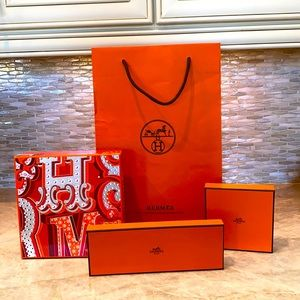 Hermes Shopping Bag and Boxes